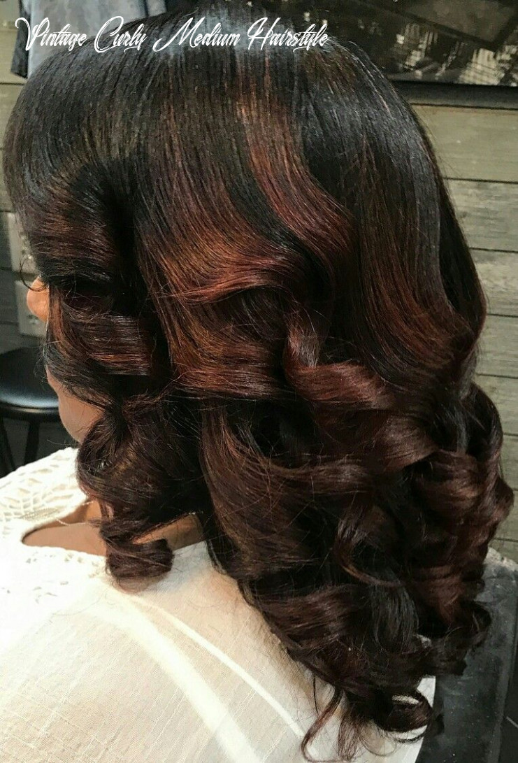 Pin on curl vintage curly medium hairstyle