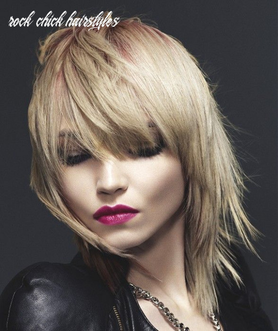 Pin on hair and makeup and nails rock chick hairstyles