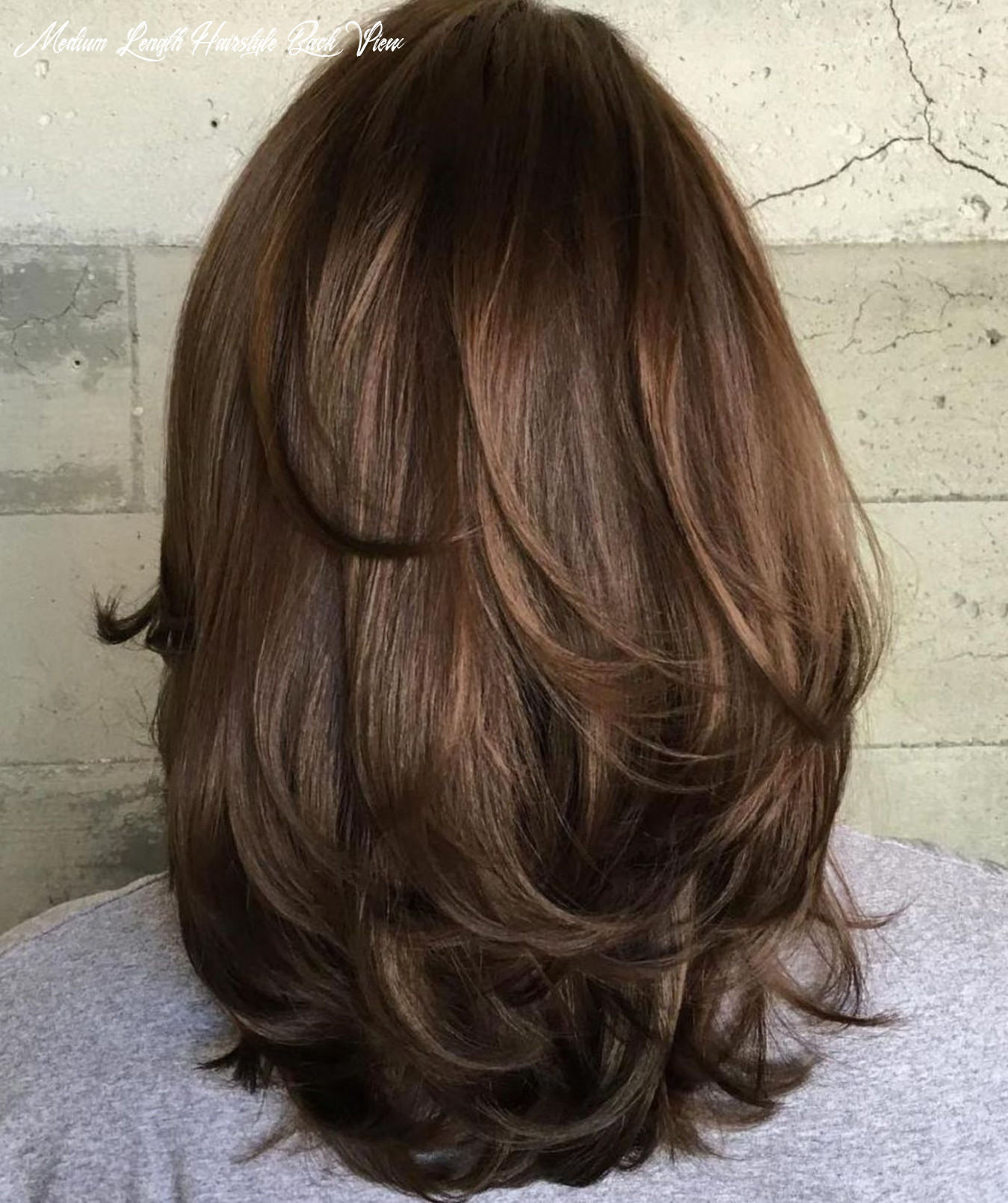 Pin on hairstyles medium length hairstyle back view