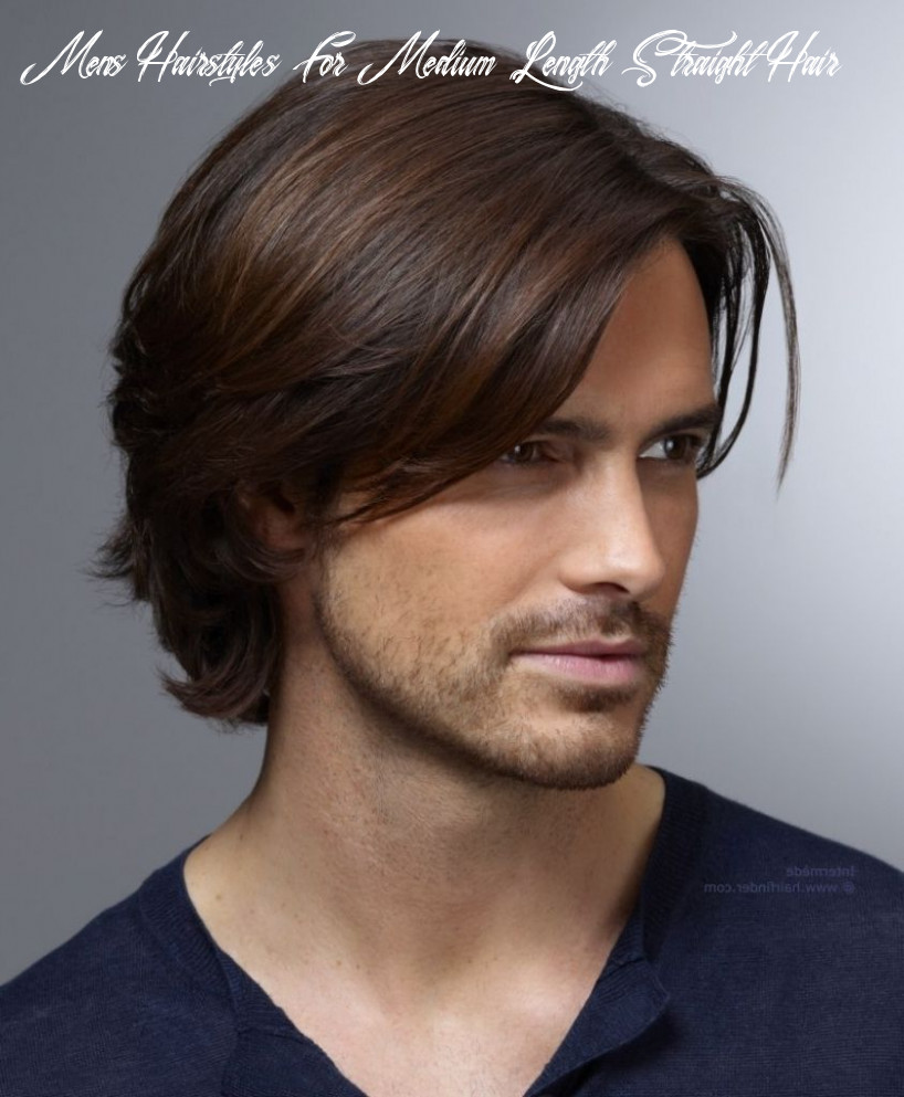 Pin on looks mens hairstyles for medium length straight hair