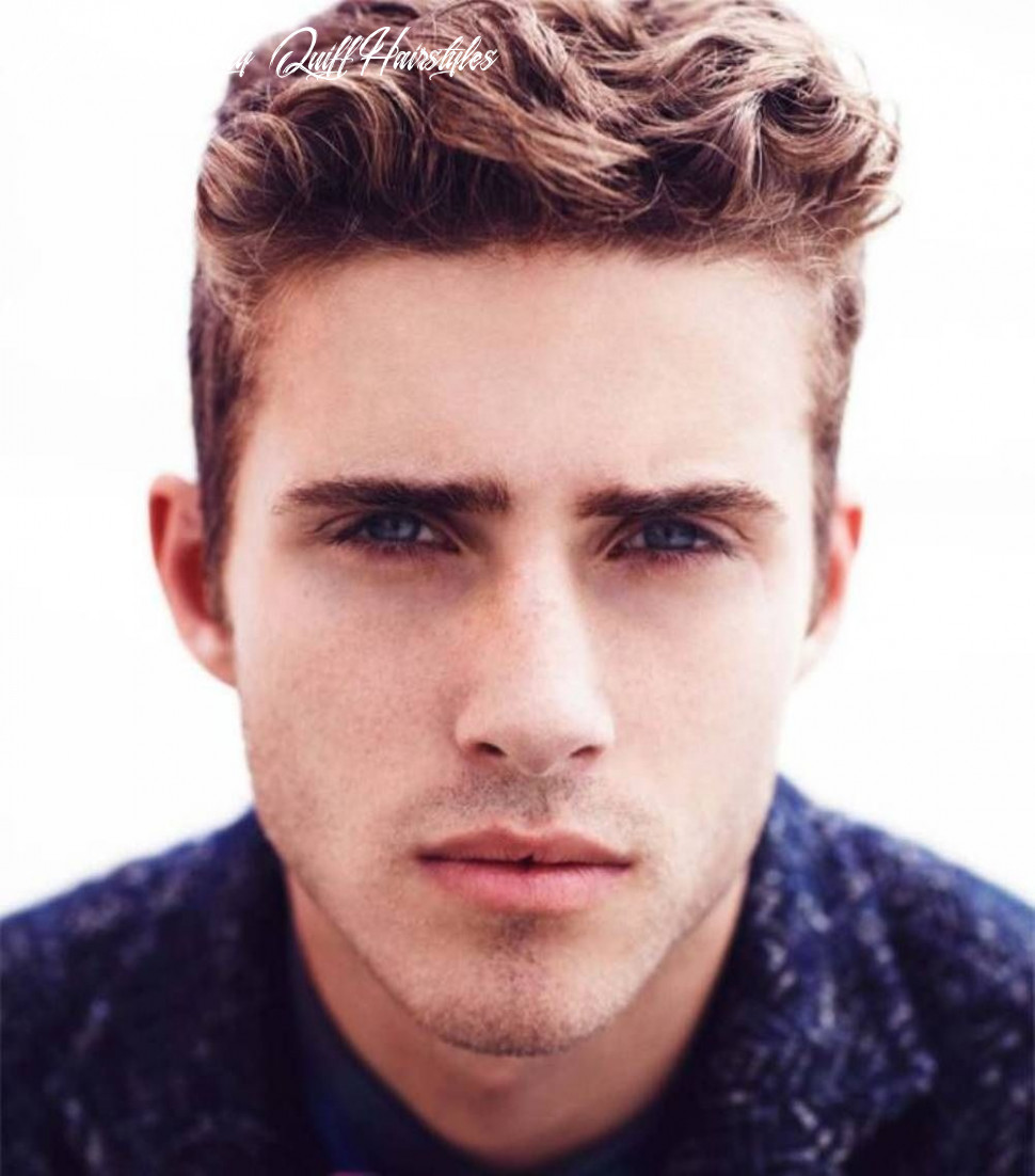 Quiff hairstyle for curly hair | wavy hair men, mens hairstyles