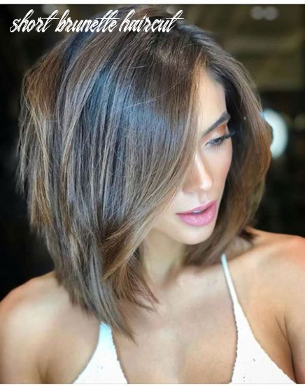 Short brunette bob hairstyle | hair highlights and lowlights