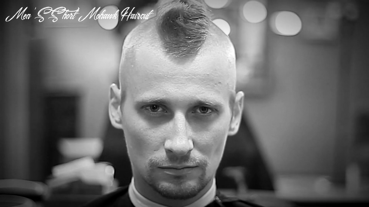✂️short mohawk haircut fast and easy tutorial