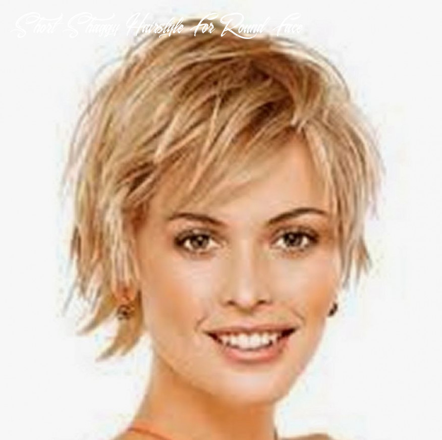 Short shaggy hairstyle for round face short shaggy hairstyle for round face