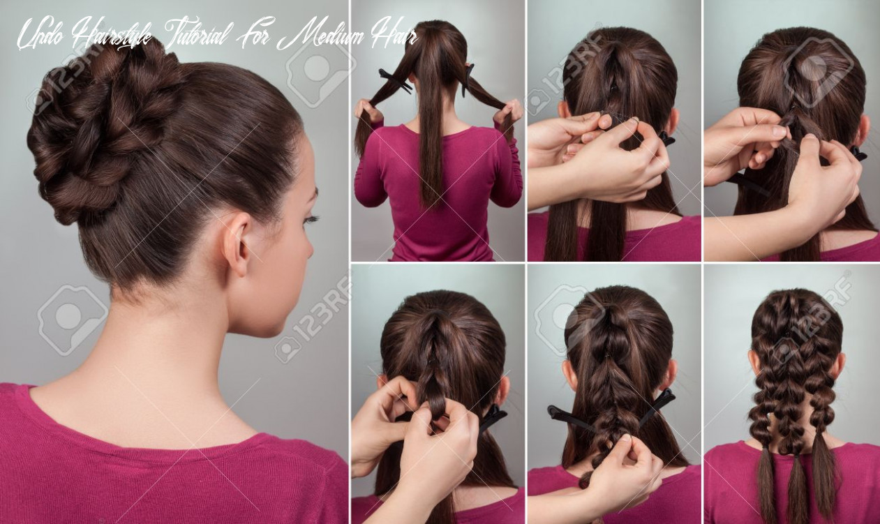 Simple elegant hairstyle tutorial updo for long and medium hair woman