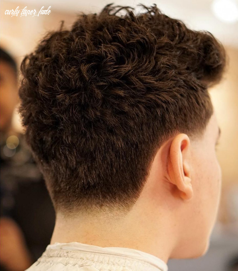 Taper fade haircuts (12 styles) curly taper fade