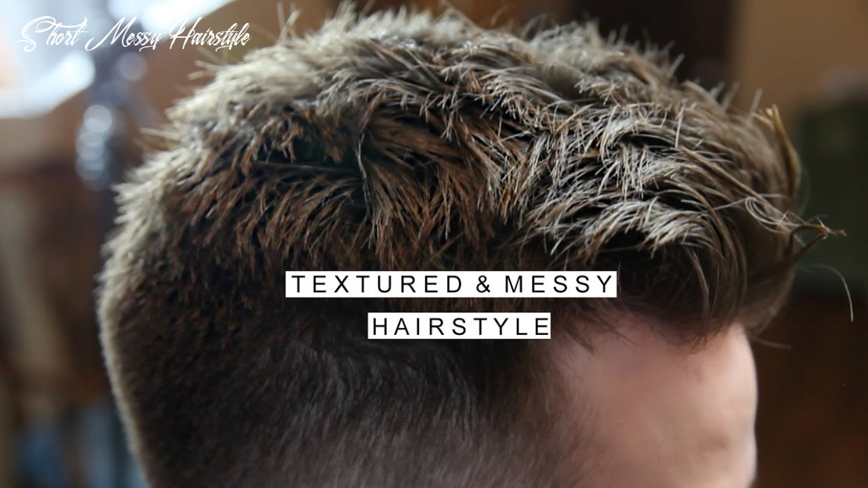 Textured messy hairstyle | men's short hair with fade | cool haircut short messy hairstyle