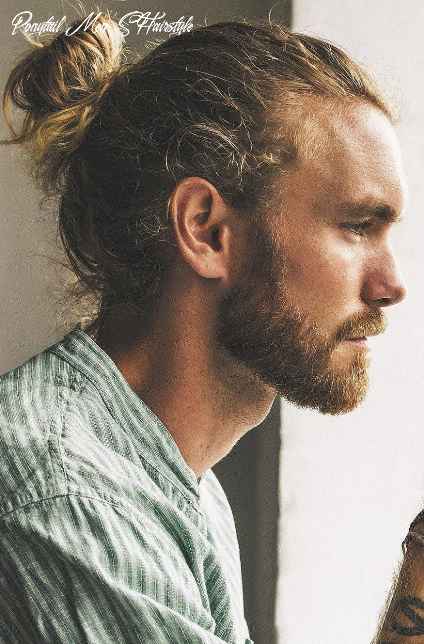 The high ponytail hairstyle for men in 11   man ponytail, long