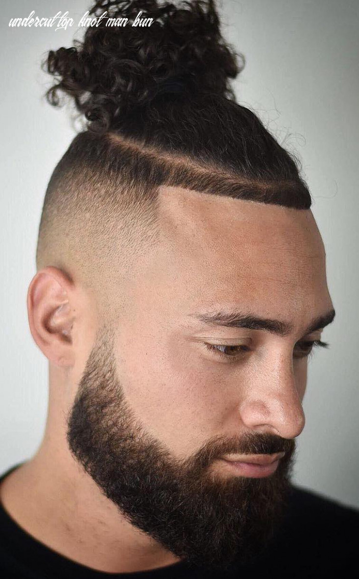The top knot hairstyle visual guide for men (8 different styles) undercut top knot man bun