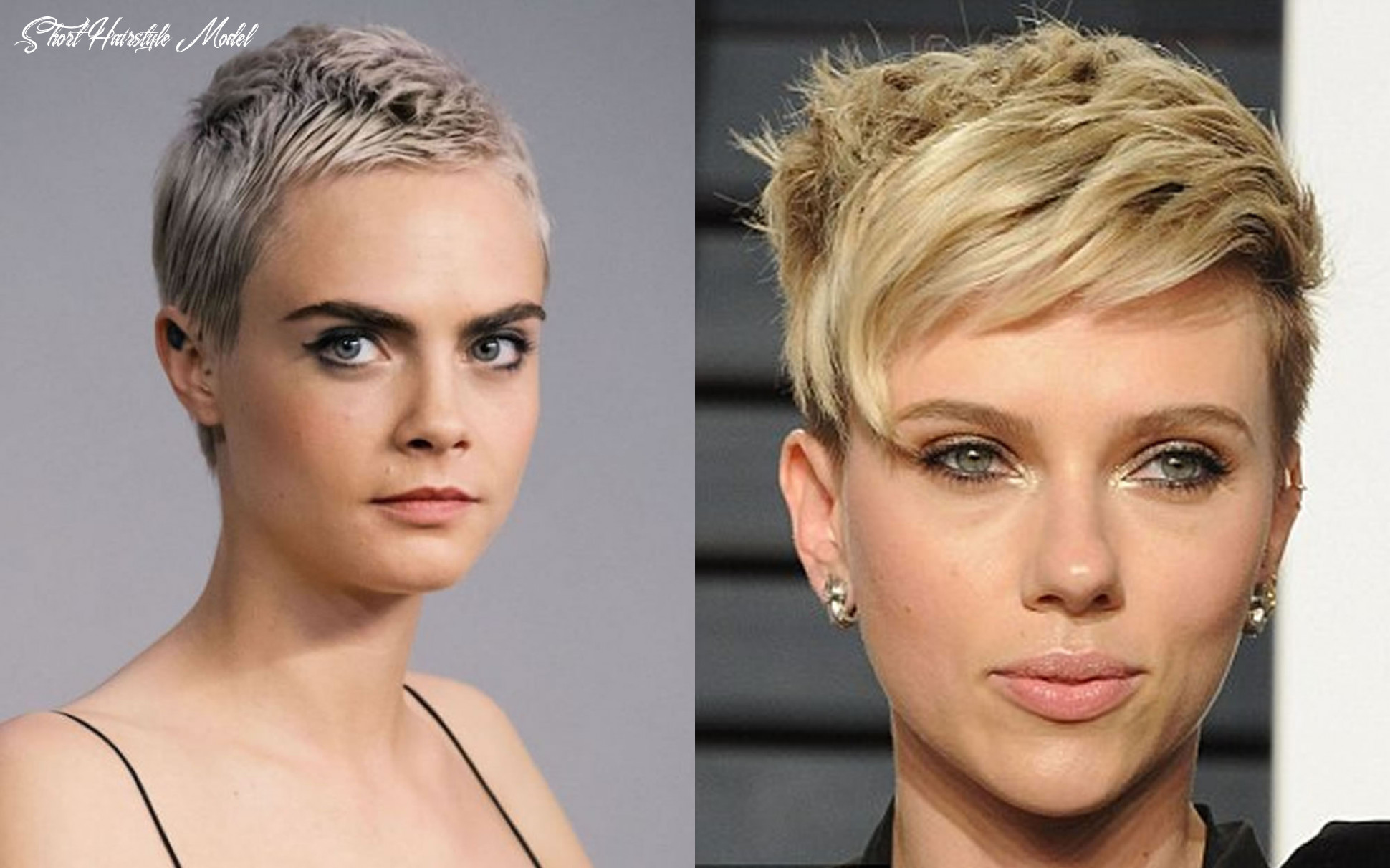 These short hair models do not require shaping! short hairstyle model