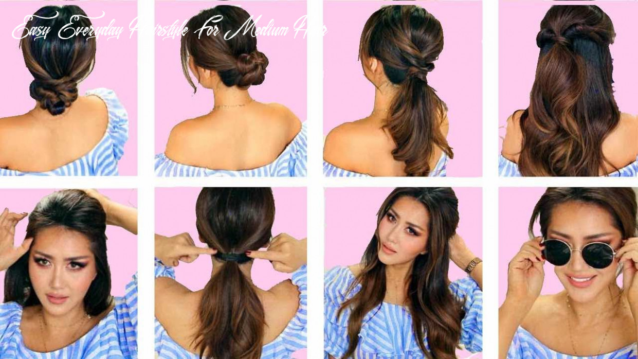 ★top 11 ? lazy everyday hairstyles with puff ? quick & easy braids & updo for long ? medium hair easy everyday hairstyle for medium hair