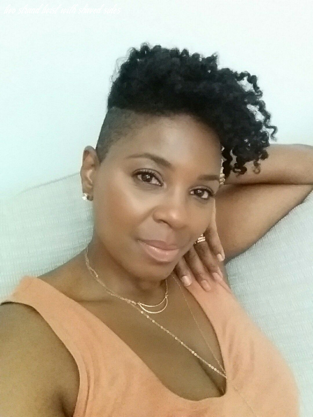Twist out with shaved sides (undercut)   braids with shaved sides
