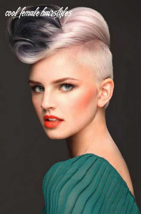 Undercut stylish short haircuts with hair color and cool female
