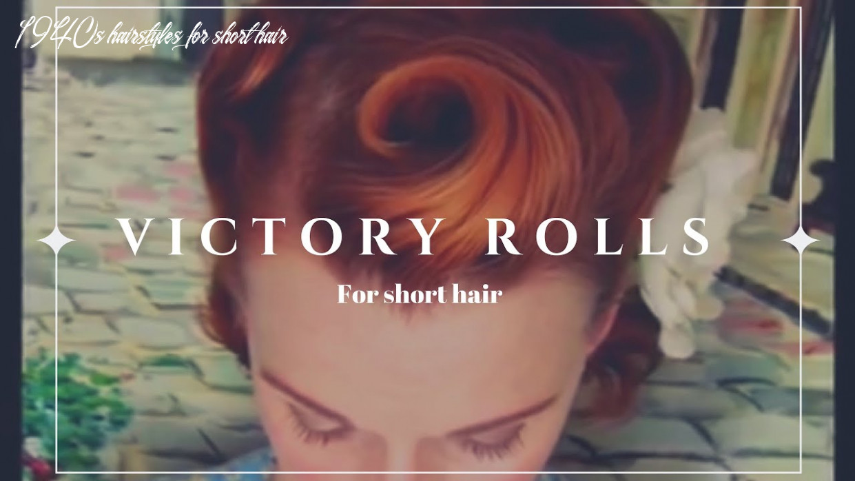 Victory rolls on short (bobbed) hair