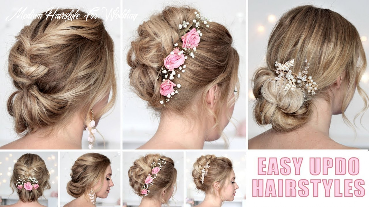 Wedding hairstyles for medium/long hair tutorial ❤ quick and easy updos medium hairstyle for wedding