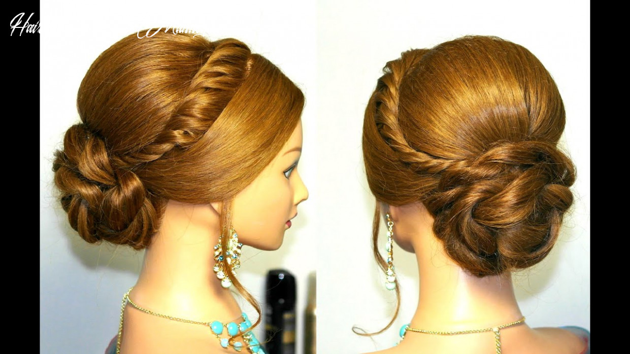 Wedding prom updo, hairstyle for long hair tutorial hairstyles on a mannequin