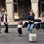 Kids dancing in the street
