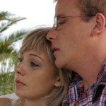Kristen Condon and Ross Ditcham share an intimate moment