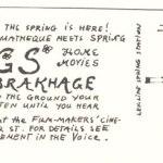 Movie poster for Stan Brakhage's Songs