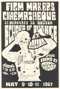 Poster promoting a screening of Peter Goldman's Echoes of Silence