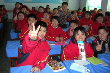 Enfants chinois à l'école de la démocratie © Dominic Rivard
