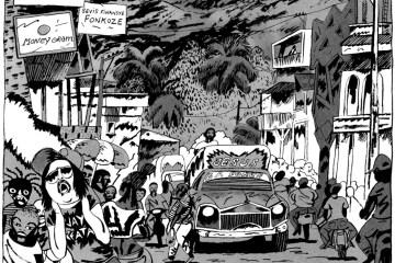 Extrait de Trou Zombie, BD reportage sur Haiti