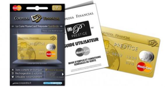 corpedia financial lance la carte de paiement prepayee prestige mastercard