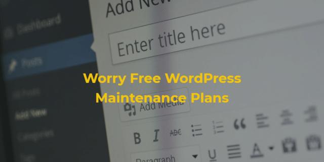 Worry-Free WordPress Maintenance Plans