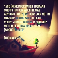 8 Luqman AS worship allah alone