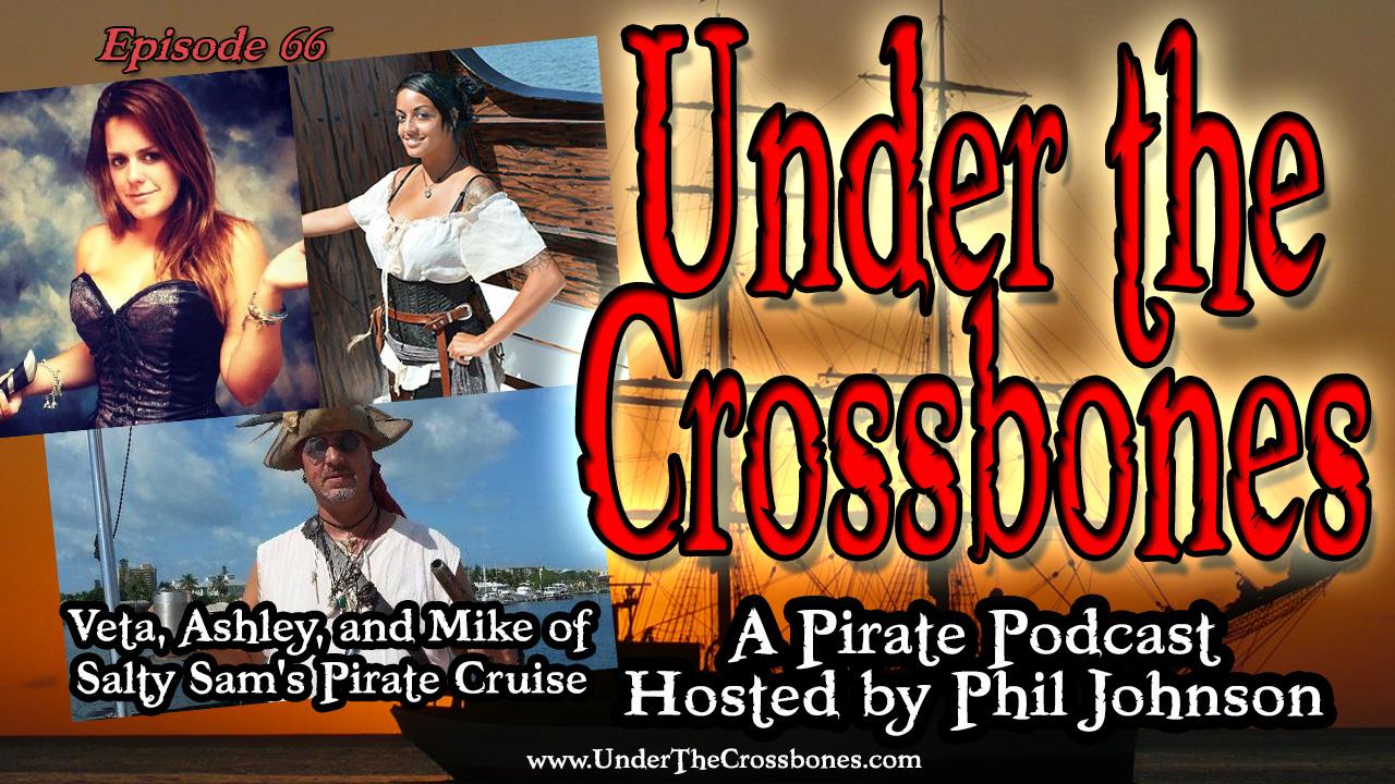 Mike, Ashley, and Veta of Salty Sam's Pirate Cruise
