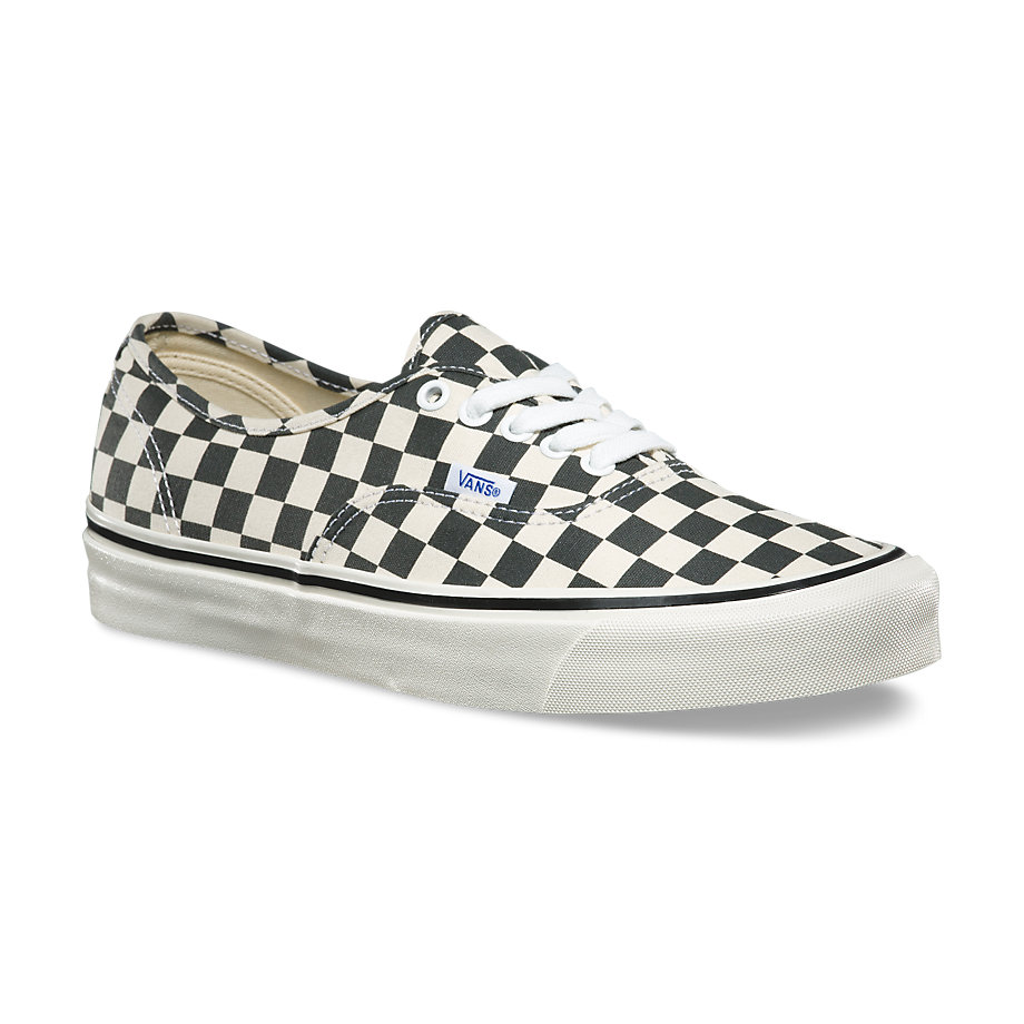 vans authentic 44 dx anaheim factory black checkerboard