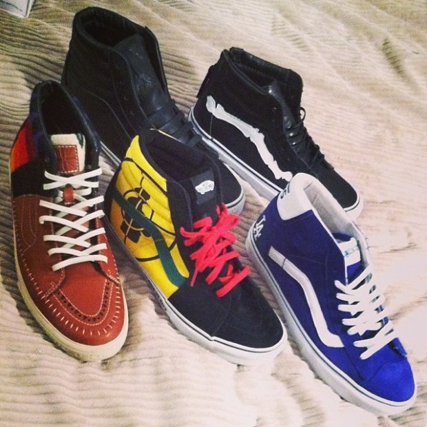 via IG! Just wanted to share a few of my favorite Vans with y'all!  #vansvault #vanssyndicate #blendsvans #undefeated #supreme #publicenemy #jasonjessee #hibondmodified