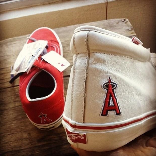 via IG! @mfsox: Vans Vault x MLB x Angels (@blendscm & @properlbc) - Old Skool LX & Chukka LX #underthepalms