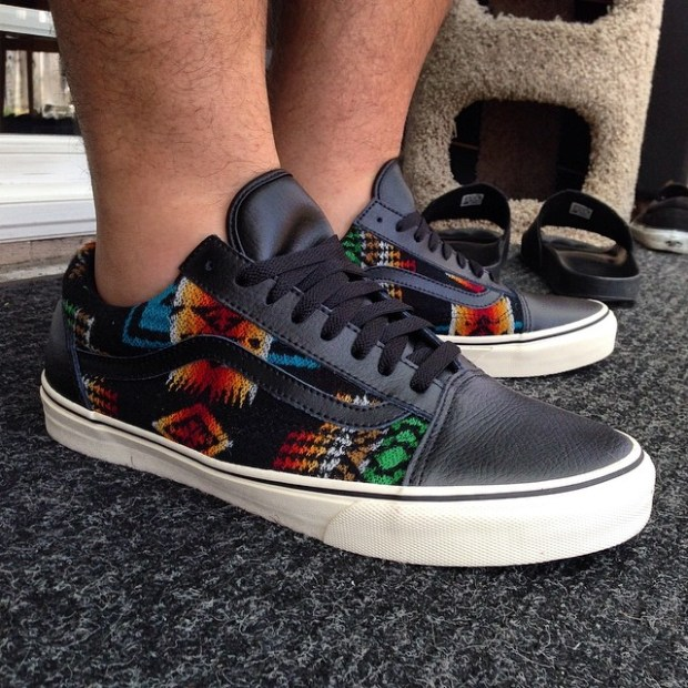 via IG! Anyone else get these #allnationsskatejam #Pendleton Old Skools this year?  I'm still waiting for my Half Cabs to come in though . #underthepalms