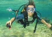 在巴拉德罗浮潜和水肺潜水