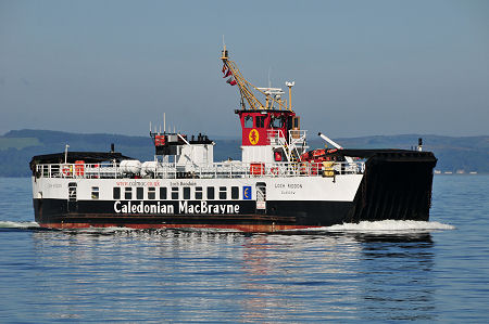 MV Loch Riddon Arrives at Largs: The two Caledonian MacBrayne ferries that shuttle back and forth on the 10 minute crossing between Largs and the slipway near the northern end of Great Cumbrae form the island's main link with the rest of Scotland and the world beyond.