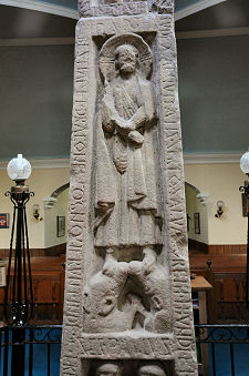 North Face Main Panel: Christ Standing on a Pair of Animals