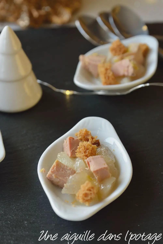 verrine foie gras poire cinq épices apéritif facile