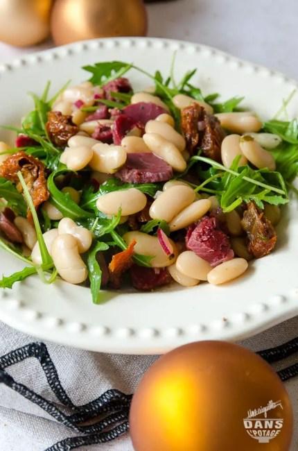 salade de haricots blancs et gésiers de canard