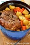 palette de porc braisée aux légumes en cocotte