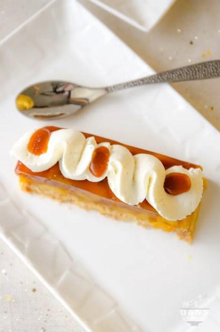Pommes façon tatin, sablé sésame et chantilly mascarpone de J-F Pantaléon