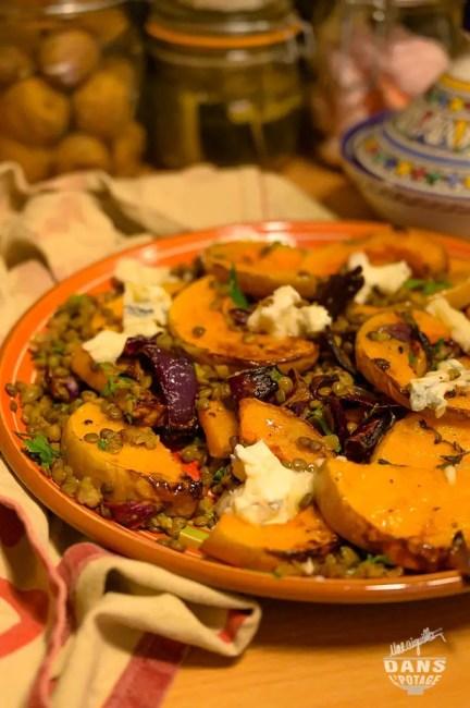 butternut rôtie lentilles gorgonzola d'Ottolenghi