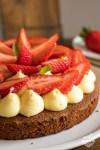 sablé breton crème légère verveine fraises