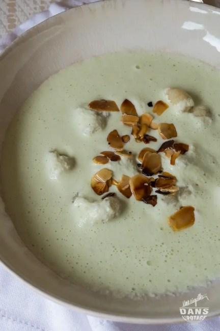 Soupe froide concombre chou-fleur ottolenghi