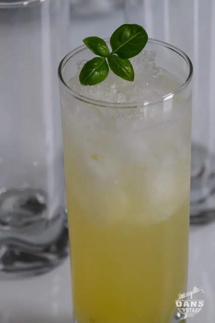 cocktail sans alcool ananas concombre basilic