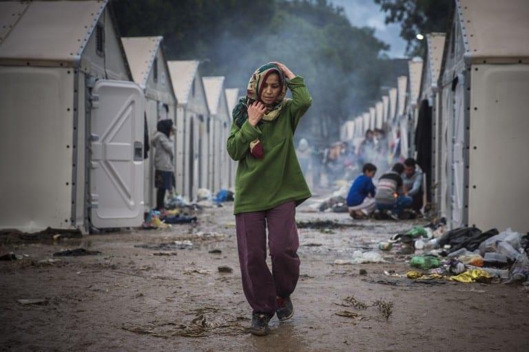 Syrian refugees at the Moria camp © | Matthias Schrader