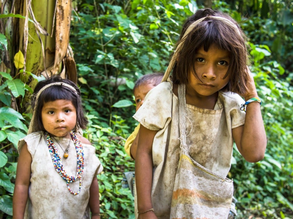 Kogi children in Colombia © | Paul Griffiths/The Ride South