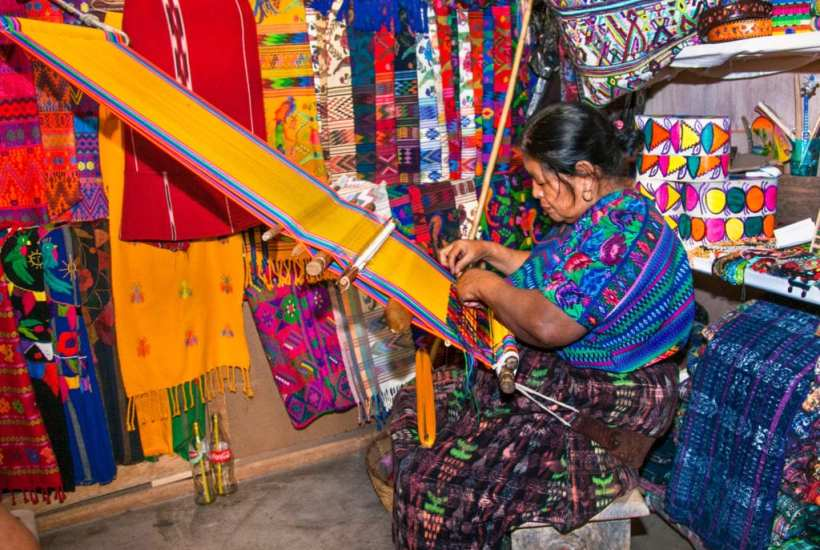 Mayan woman weaving with strap loom in Antigua, Guatemala | © Aleksandar Todorovic/Shutterstock