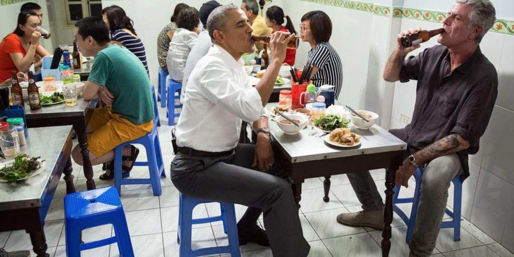Barack Obama and Anthony Bourdain filming for CNN Parts Unknown © | Vox.com
