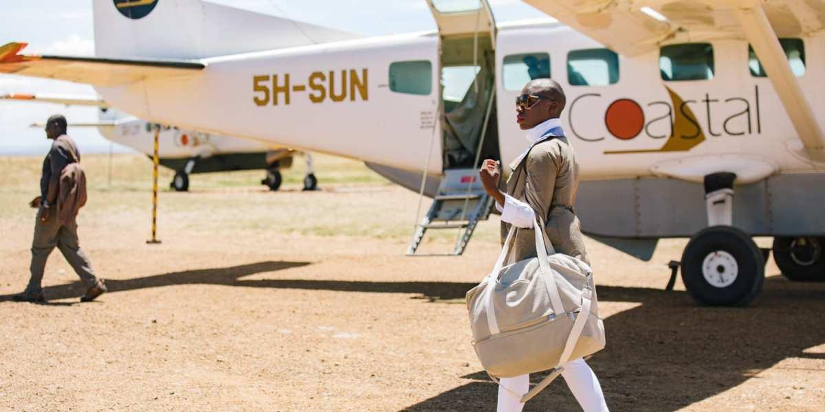 Jessica Nabongo in the Serengeti in Tanzania | © Elton Anderson